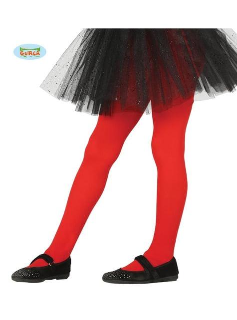 Collants vermelhos infantis