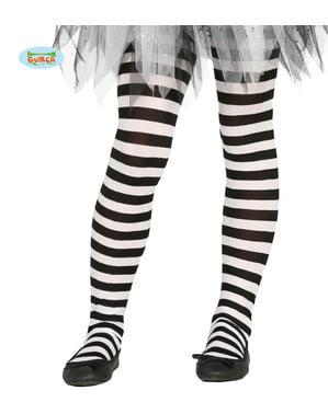 लड़कियों के लिए काले और सफेद धारीदार चुड़ैलों चड्डी