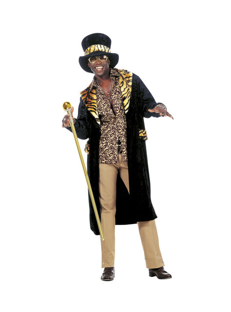 Bastón de chulo dorado plegable - para tu disfraz