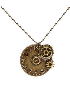 Naszyjnik steampunk zegarek