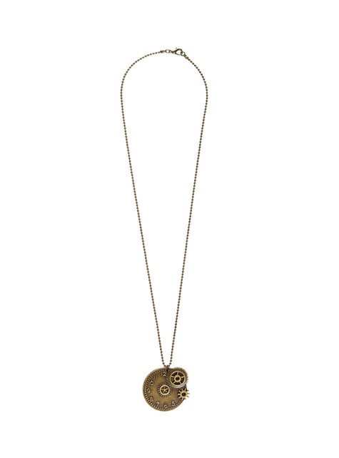 Collar de reloj steampunk - para tu disfraz
