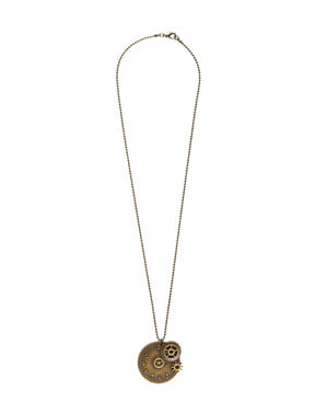 Steampunk hodinkový náhrdelník