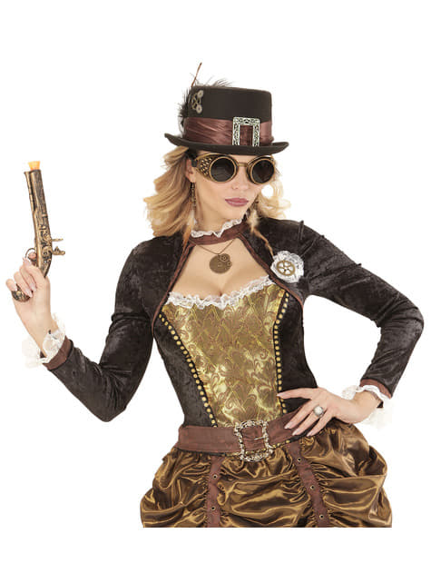 Collar de reloj steampunk - Halloween