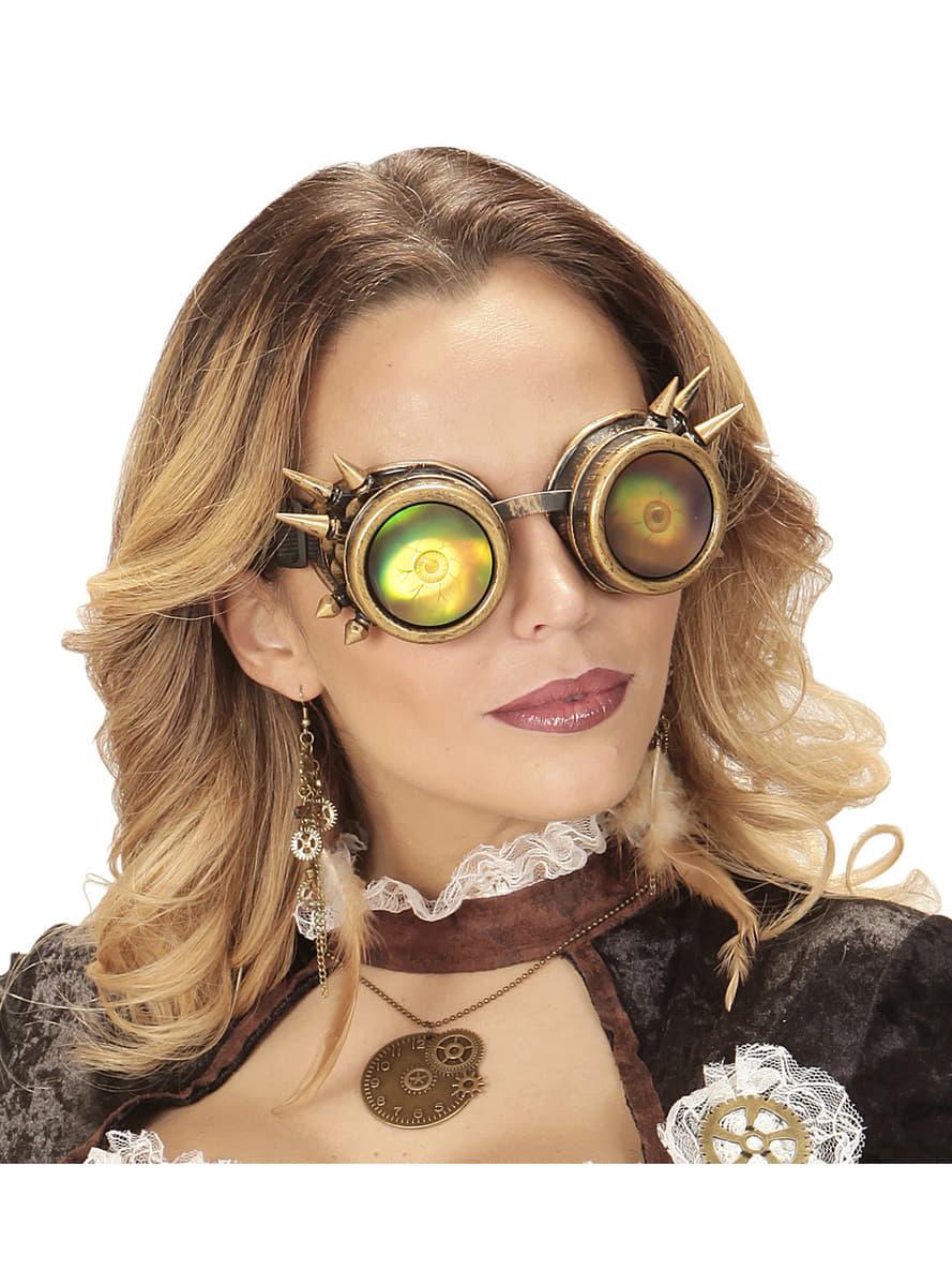 mehrfarbige brille steampunk mit augen f r kost m funidelia. Black Bedroom Furniture Sets. Home Design Ideas