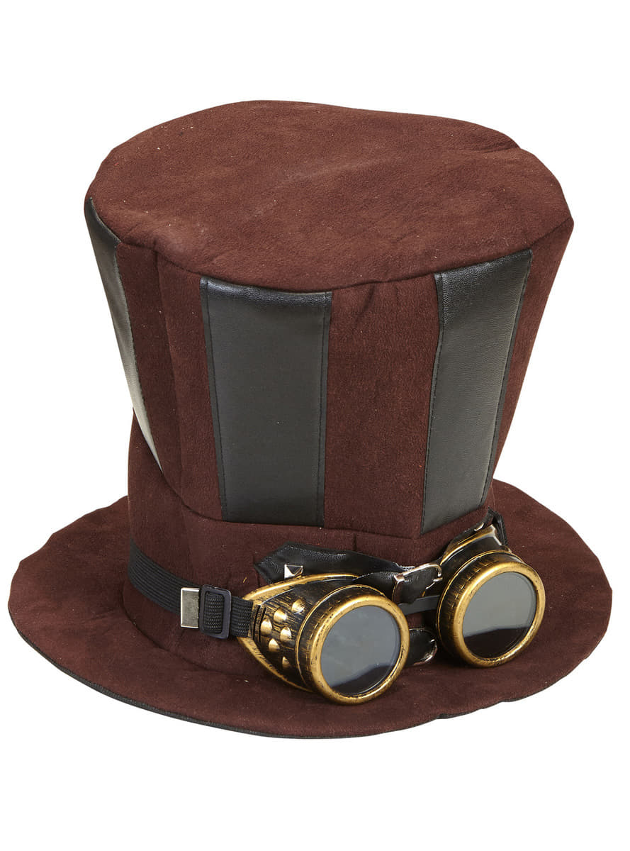 Steampunk hat with goggles. Express delivery | Funidelia