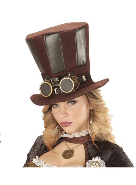 Sombrero Steampunk con gafas - para tu disfraz