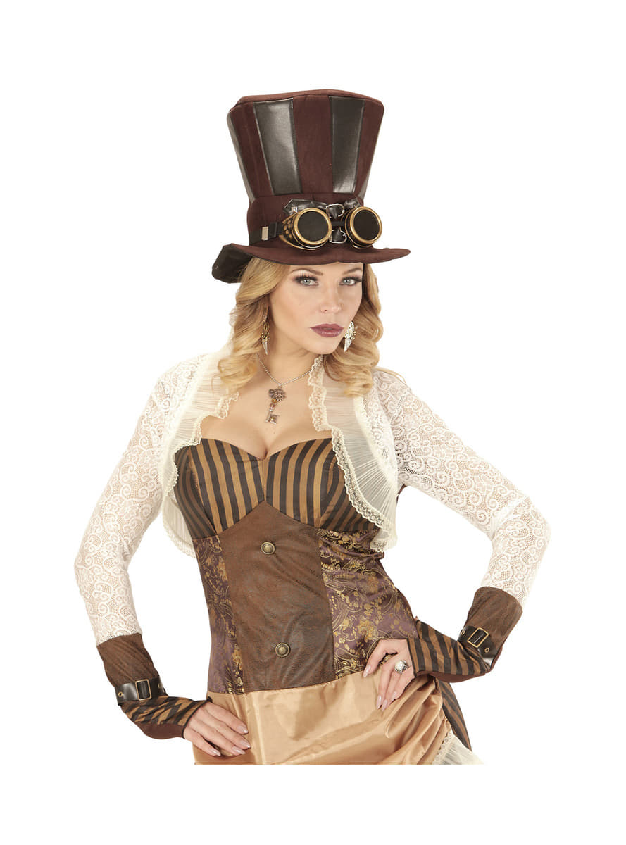 Steampunk Hat With Goggles Express Delivery Funidelia