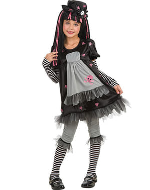 Costume gothic girl Black Dolly