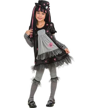 Goottityttö Black Dolly asu lapselle