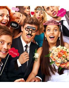Set de 20 piezas para Photocall boda