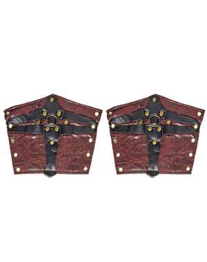 Braceletes de gladiador romano para adulto