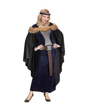 Costum de prințesă medievală culoare închisă pentru femeie