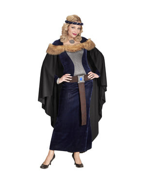 Kostium średniowiecznej księżniczki ciemny damski
