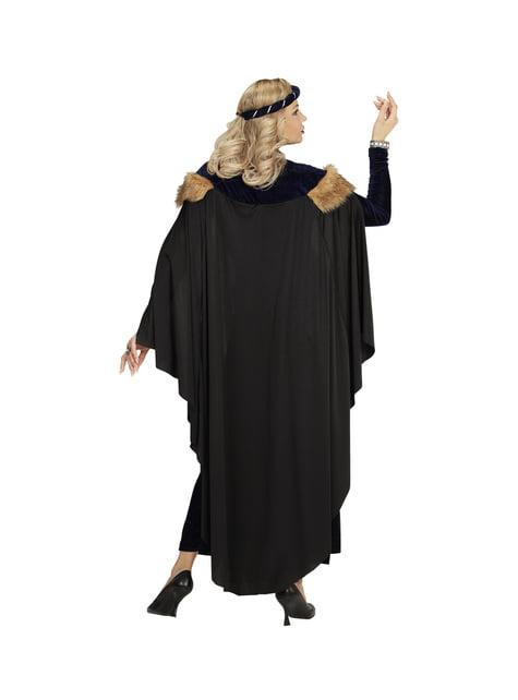 Déguisement princesse médiévale sombre femme