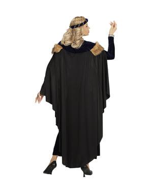 Middeleeuws prinses kostuum donker voor vrouw
