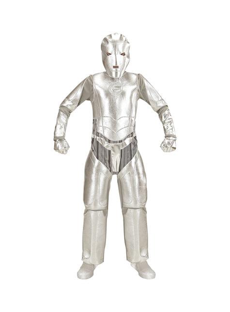 Disfraz de invasor del espacio metálico para niño
