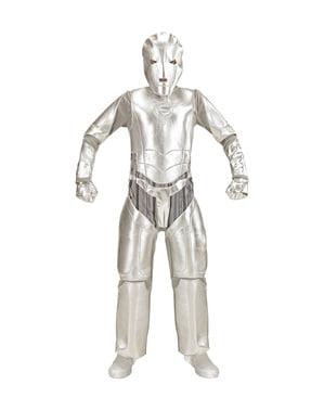 Maskeraddräkt spaceinvador metallisk för barn