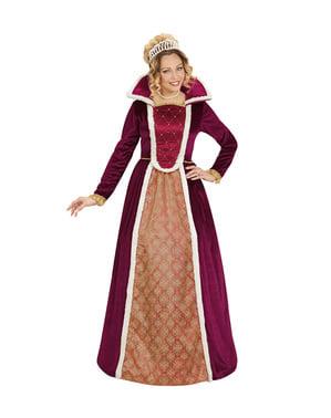 Дамски тъмночервен елегантен костюм на кралица