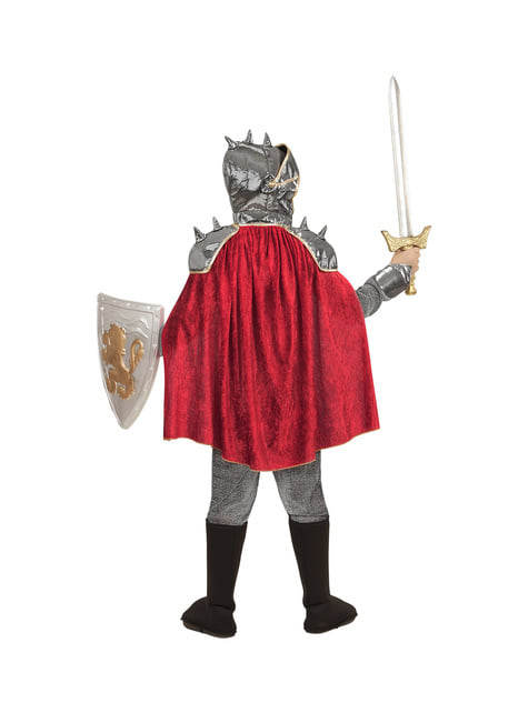 Disfraz de caballero medieval plateado para niño - infantil