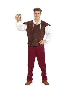 Costume da locandiera medievale tradizionale per uomo