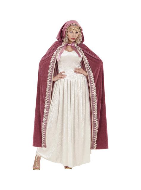 Capa de princesa medieval para mujer
