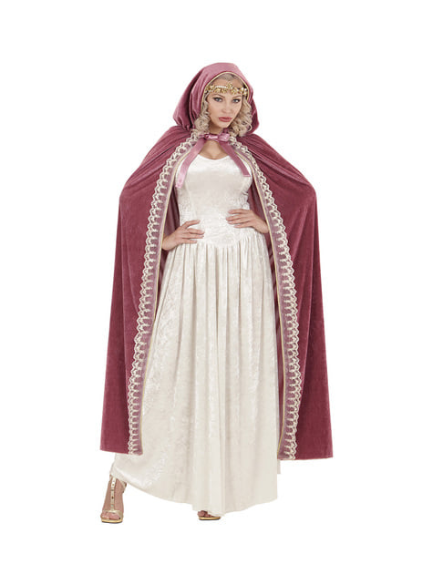 Capa de princesa medieval para mulher