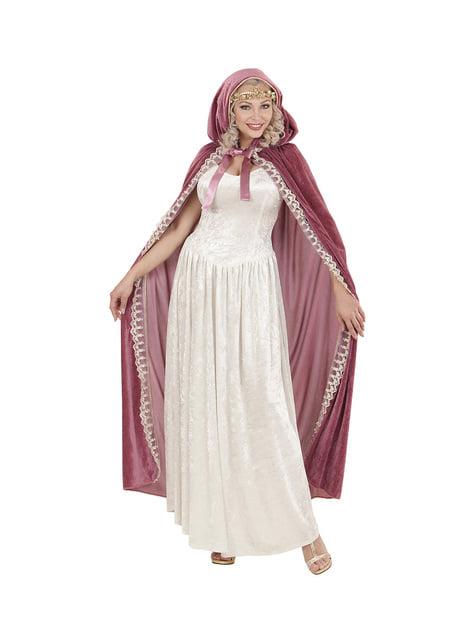 Capa de princesa medieval para mujer - para tu disfraz