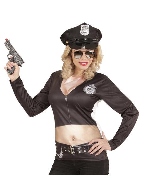 Fato de polícia stripper sexy para mulher