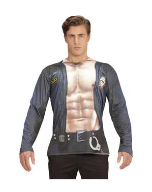 Costume polizia stripper sexy per uomo