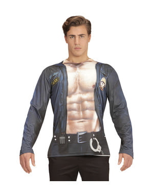 Déguisement policier strip teaser sexy homme