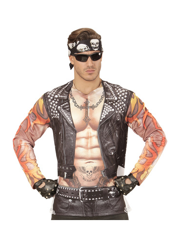D guisement motard rebelle homme funidelia - Deguisement rebelle adulte ...