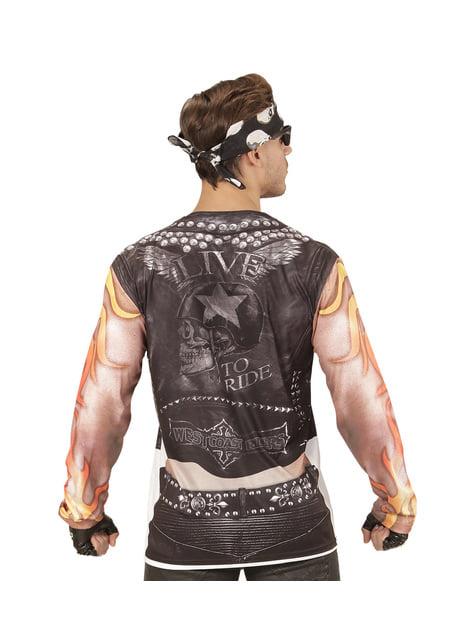 Kostium zły motocyklista męski