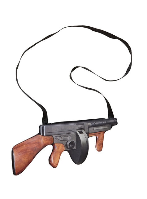 Bolso de metralleta gángster de los años 20 - para tu disfraz