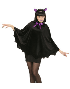 Disfraz de murciélago nocturno para mujer