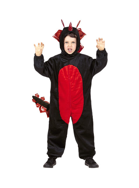 Disfraz de dragón negro feroz infantil