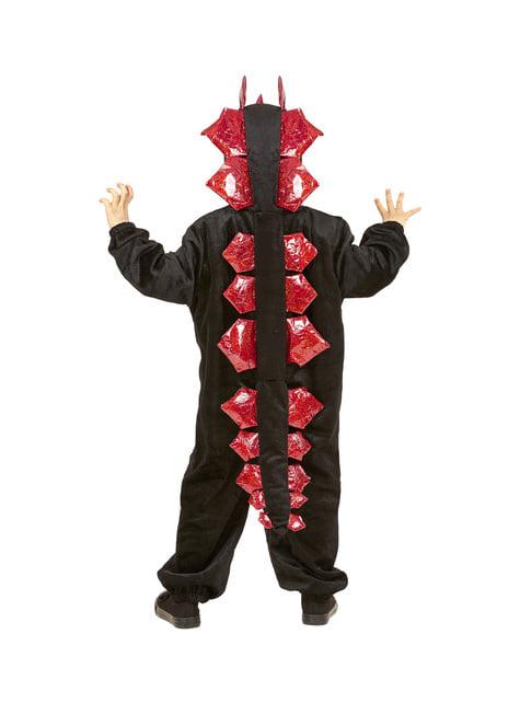 Disfraz de dragón negro feroz infantil - infantil