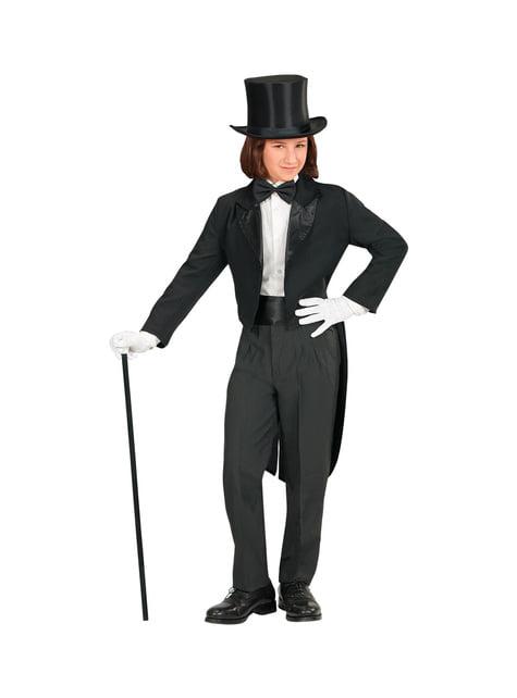 Chlapecký elegantní černý frak