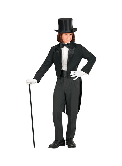 Frac negro elegante para niño
