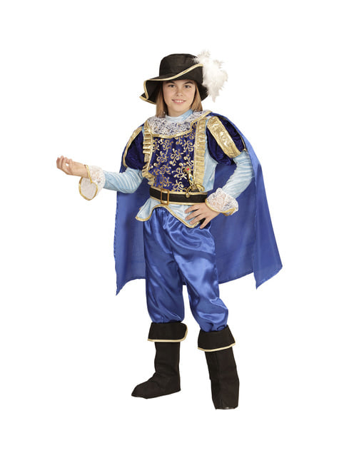 Chlapecký velkolepý modrý kostým prince