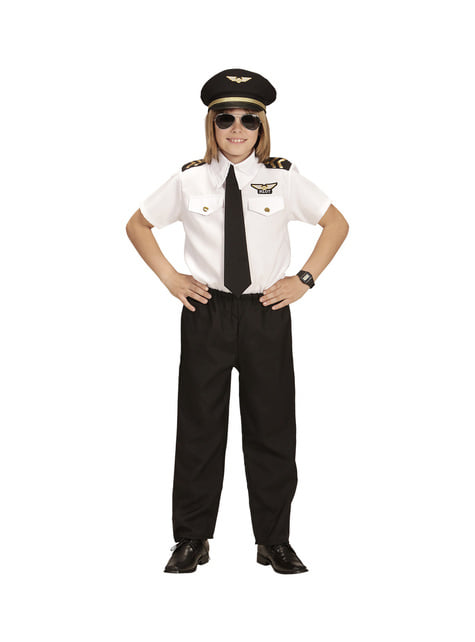 Disfraz de piloto de aviación infantil