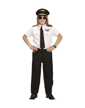 Costume da pilota di aviazione per bambini