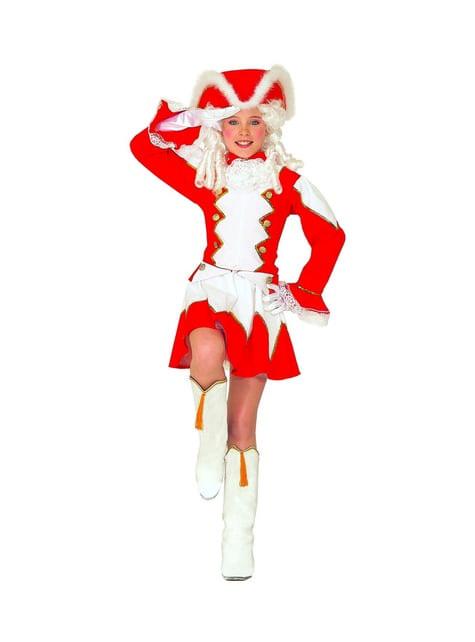 Girls' red majorette costume