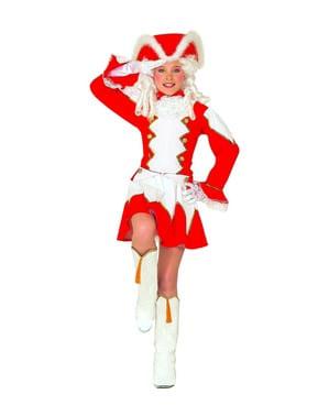 Costum de majoretă roșu pentru fată