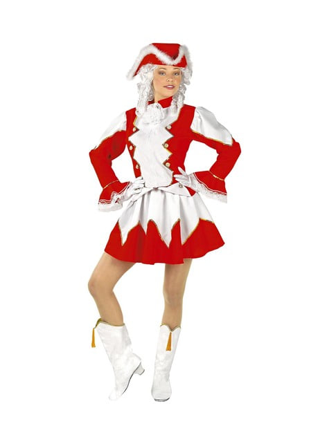 Disfraz majorette roja para mujer