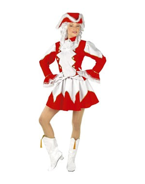 Rood majorette kostuum voor vrouw