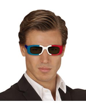 Okulary z flagą Francji dla dorosłego