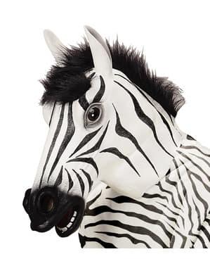Mască de zebră blănoasă pentru adult