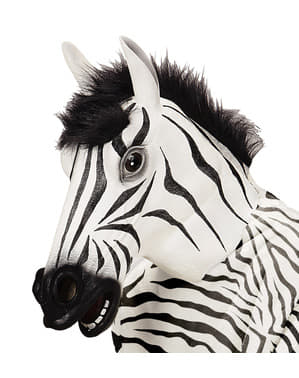 Srstnatá zebra maska pro dospělé