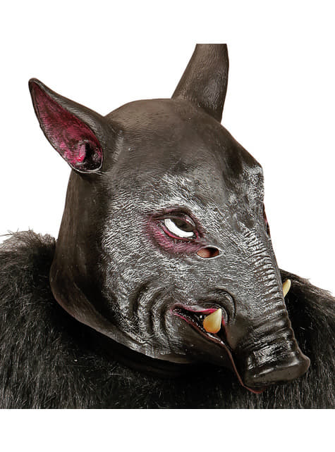 Máscara de jabalí salvaje para adulto