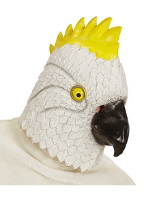 Máscara de cacatúa blanca para adulto